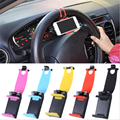Car Steering Wheel Holder Bike Clip Mount Mobile Phone Stand For iPhone 6 6s 5S SE