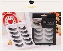 Free shipping 2015 New 1 pair 3D mink eyelash 100% real mink fur Handmade crossing lashes  individual strip thick lash