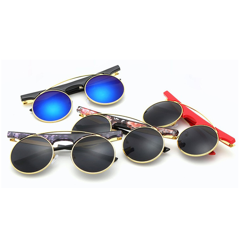 2016 Men Women Vintage Steampunk Round Rimless Sunglasses Fashion Popular Brand Designer Retro Sun Glasses gafas de sol oculos(China (Mainland))