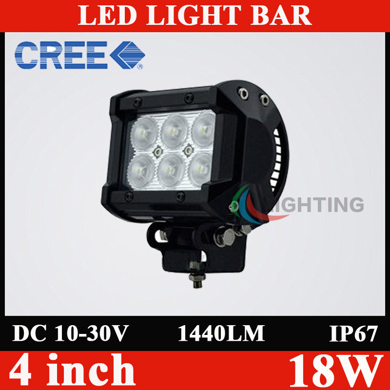 4 Inch 18W Cree LED Work Light Bar for Indicators Motorcycle Driving Offroad Boat Car Tractor Truck 4x4 SUV ATV Flood 12V(China (Mainland))