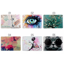 Cartoon Flower Girl Cat Save the Date Big Eyes Pattern Matte Hard Cover Case For Apple Macbook Air 13 Pro 13 Retina 13 13.3 inch