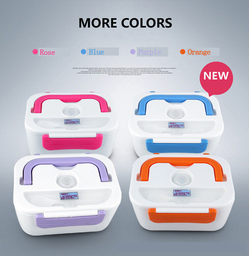 New Portable Electric Heating Lunch Box Meal Heater Rice Dinner Food Container 110V/220V Lunchbox(China (Mainland))