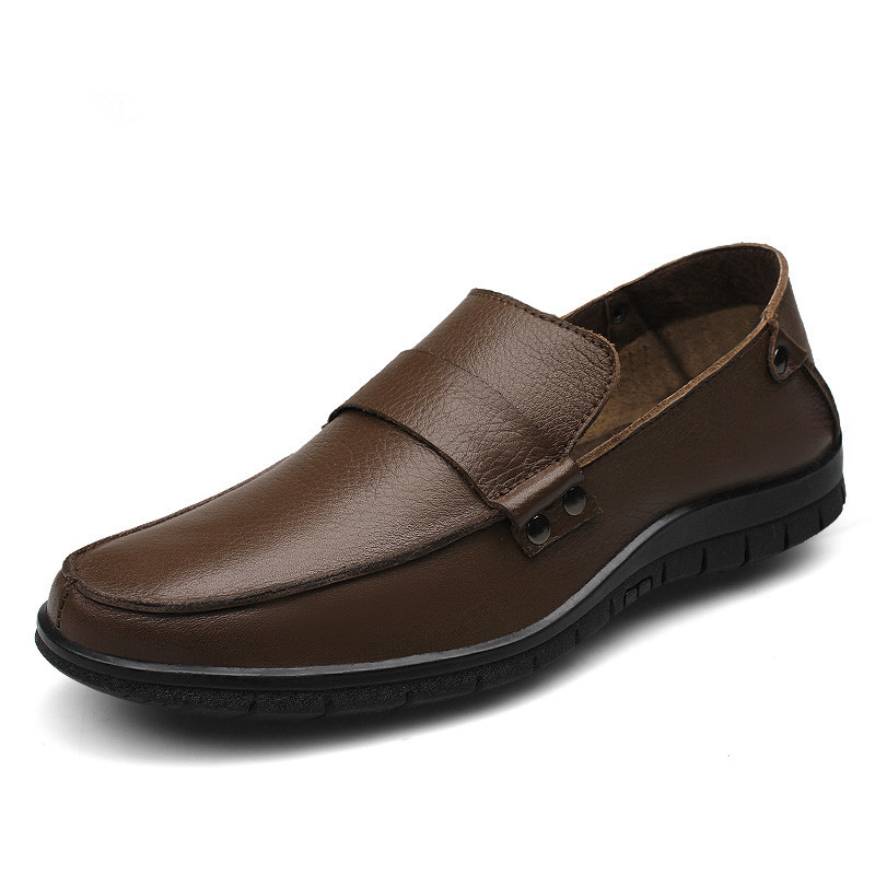 Men Casual Flat Shoes Summer 2015 Genuine Leather New Fashion Size 38-46 Confortable Flats-Free Shipping(China (Mainland))