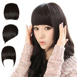 Гаджет  3 Colors 3 Hair Styling Synthetic Hair Front Bangs Fashion Girls New Clip on Front Neat Bang Fringe Hair Extensions  Hair Bang  None Волосы и аксессуары