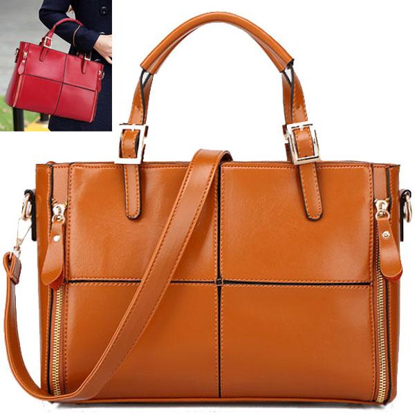 Genuine leather bag 2015 fashion women handbag vintage women bag real leather shoulder bags brands women tote shopping V3G63(China (Mainland))