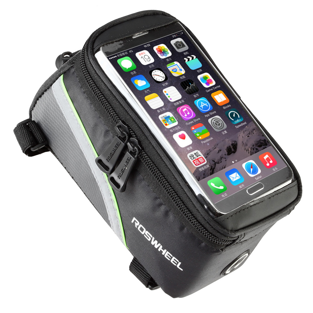 ROSWHEEL 4.8 5.7Cycling Bike Bicycle bags panniers Frame Front Tube Bag For Cell Phone MTB Bike Touch Screen Bag free shipping<br><br>Aliexpress