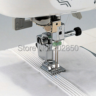 Household Multi-Function Sewing Machine Tank Presser Foot With 9 Grooves,Compatible With Brother,Janome,Singer,Feiyue,Acme...(China (Mainland))