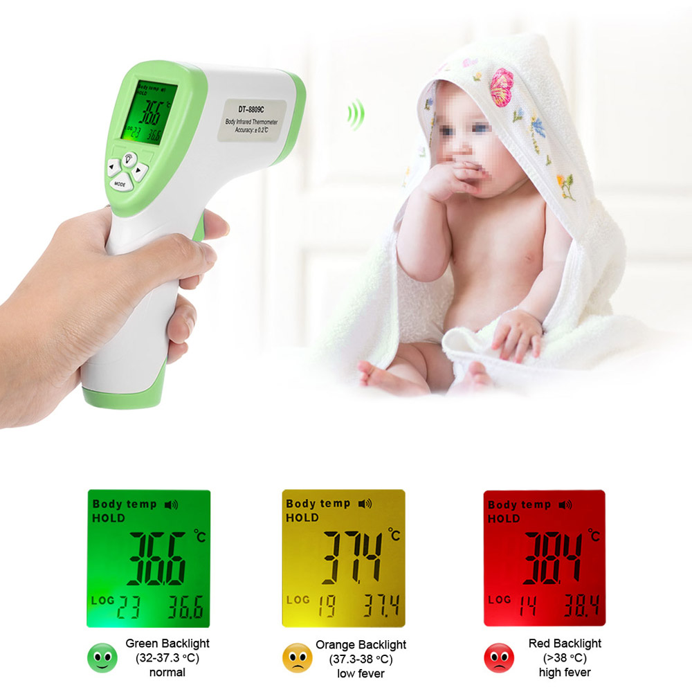 Digital Thermometer IR Infrared Thermometer Non-contact Forehead Body Surface Temperature instruments termostato Data Hold Func(China (Mainland))