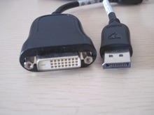 DP DisplayPort DisPlay Port to DVI-D DVI 24+1 Video cable cord  for Host to monitor projector 10CM used