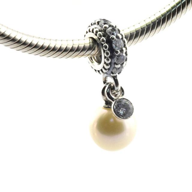 Горячая распродажа подходит пандора браслеты оригинал 925 - серебро бусины световой элегантность перл шарма DIY JewelryWholesale