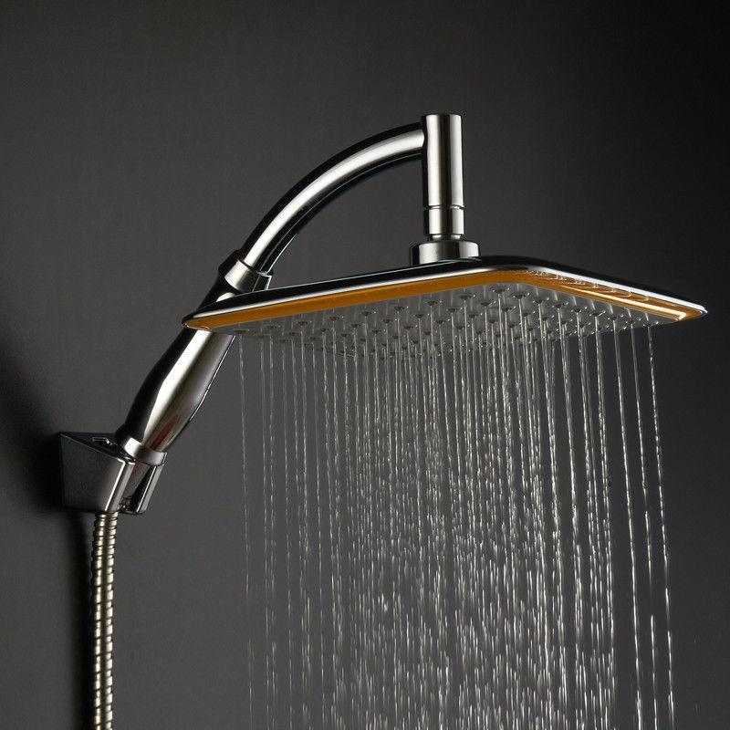 8 inch Air Boost Premium Quality ABS Rainfall Shower Head Extension Shower Arm Set, Chrome03-018(China (Mainland))