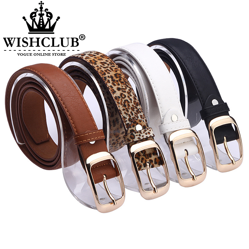 New 2015 Fashion Women Belt Brand Designer Hot Ladies Faux Leather Metal Buckle Straps Girls Fashion Accessories(China (Mainland))