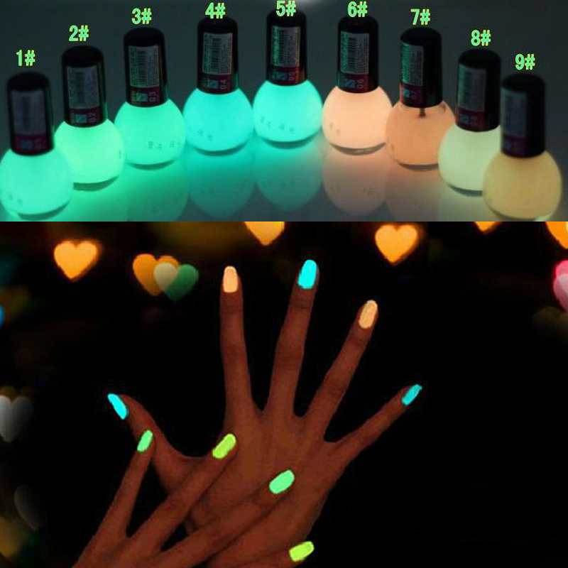 Luminous Oil Candy Color Fluorescent Luminous Transparent Nail Polish Shop Authentic Free Shipping MK0301(China (Mainland))