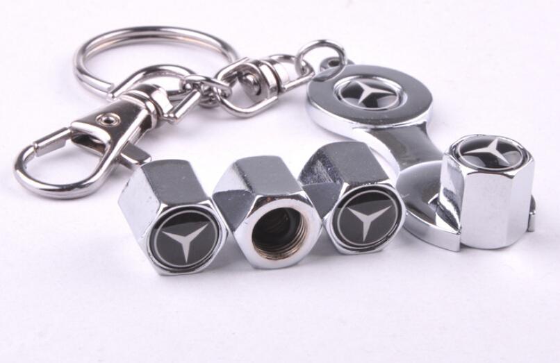 2015 power car wheel tire valve caps for benz 4pcs caps for Mercedes benz tire chains