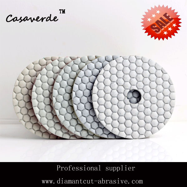 50# Dry 4(100mm) with 2.5mm polish pads for stone 4 for Granite and Marble velcro discs<br><br>Aliexpress