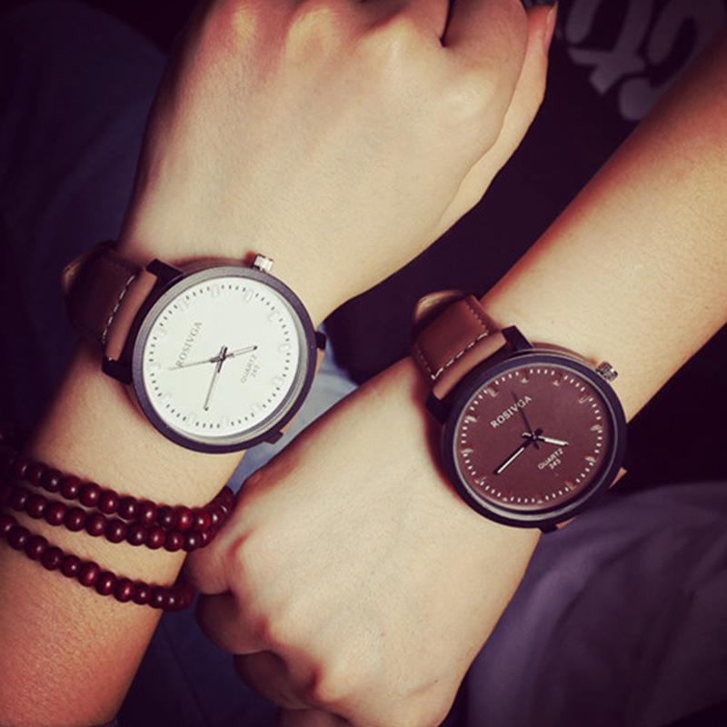 luxury brand korean simple style watch men vintage big