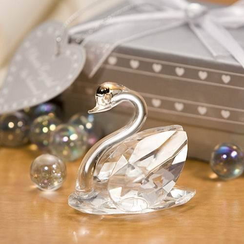 100Pcs Free Shipping Choice Crystal Favors Single Swan Bridal Shower Party Favors Acessories Crystal Wedding Favors And Gifts(China (Mainland))