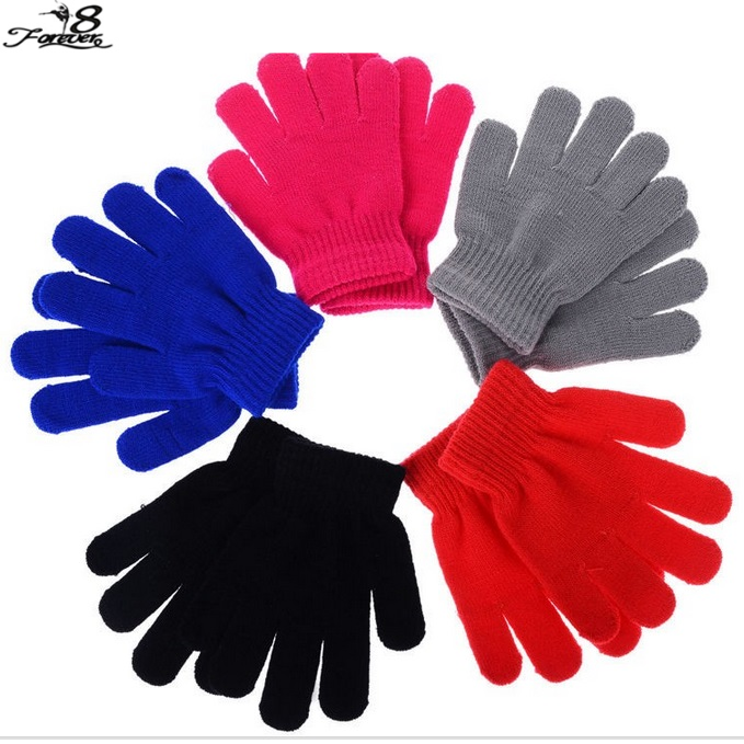 1 Pair of Hot Girls Boys Kids Toddler Winter Warm Stretchy Crochet Knitted Pick Colour Magic Wrist Gloves Soft Mittens(China (Mainland))