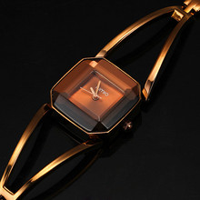 New Arrival KIMIO Luxury Women's Quartz  Watches Waterproof Stainless Steel Hollow Square Bracelet Ladies Watches montre femme