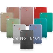 50pcs/lot Free Shipping New Crystal Brushed TPU Case Cover For ipad mini(China (Mainland))