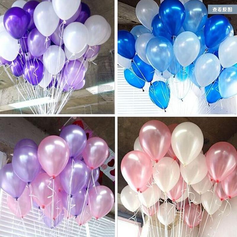 100pcs/lot 10 inch1.2g Latex balloon Helium Round balloons 16colors Thick Pearl balloons Wedding Party Birthday Balloons(China (Mainland))