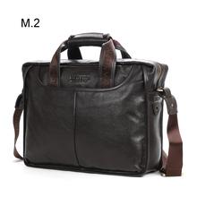 Brand 100% Cowhide Men's Business Briefcase Vintage GENUINE LEATHER Cowhide Shoulder Leisure Men Bag / 14 inch Laptop Bag Man(China (Mainland))