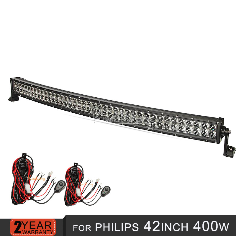 42 inch 400w curved Led Light Bar For Philips 4D combo beam Offroad bar light truck