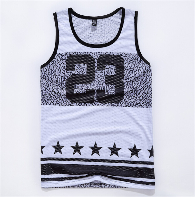Summer style harajuku 3d vest men/women Number 23 basketball undershirt sport casual gym hip hop floral jersey free shipping(China (Mainland))
