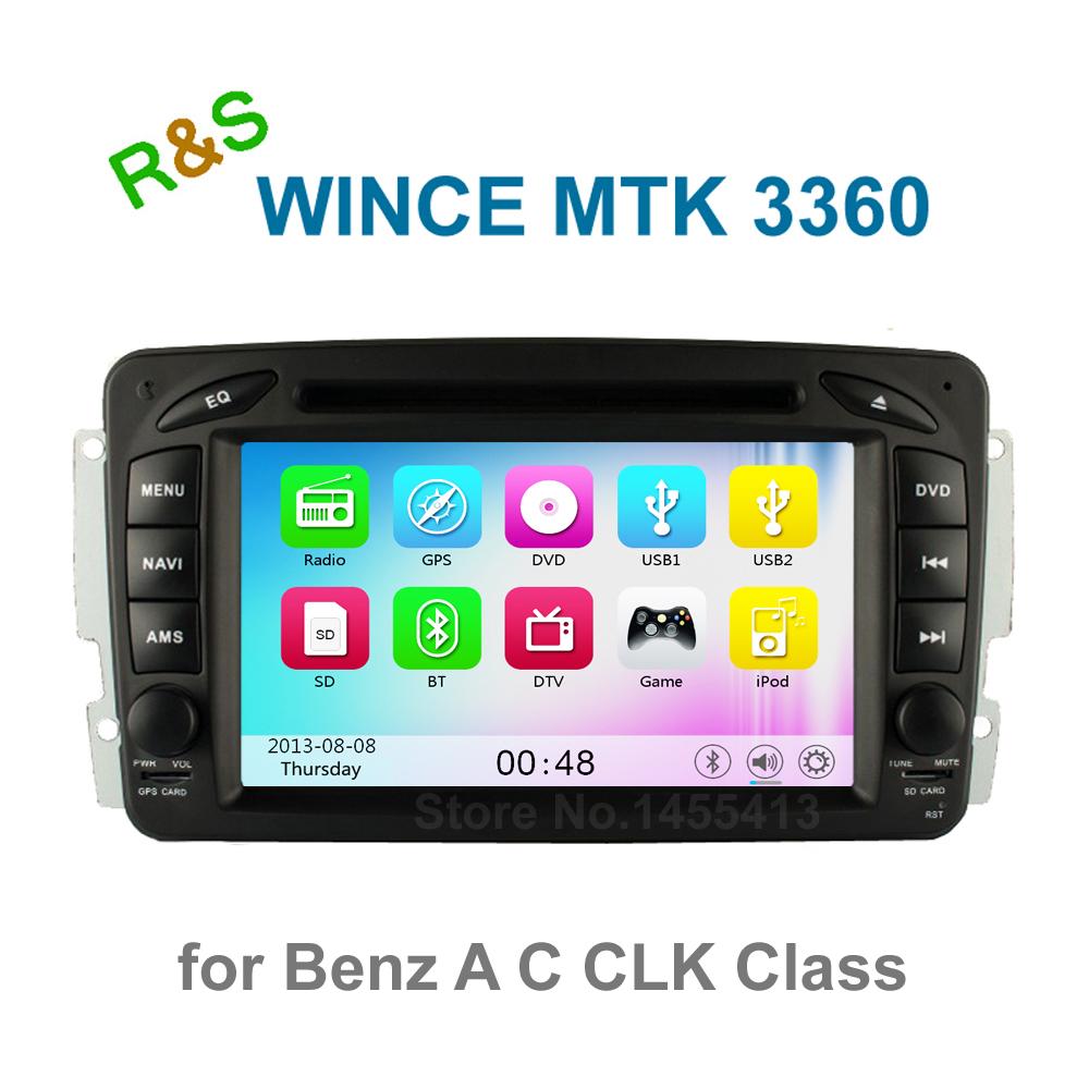 Car DVD Player Radio for Mercedes Benz W203 W210 W168 Vaneo Viano Vito W170 C209 C208 W163 W463 with BT GPS support 3G WiFi Ipod(China (Mainland))