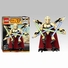 66pcs Star Wars Lightsaber Robot Minifigure General Grievous Building Toy Block Action Figure Model KSZ 516 Legoegoly Toys