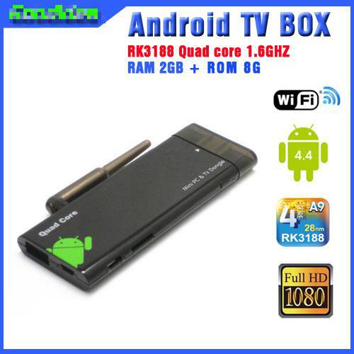 Strong Signal CX919 Quad Core Mini PC RK3188 Android 4.4 Smart TV Stick 2GB/8GB WiFi and Bluetooth(China (Mainland))