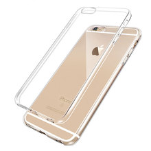 2016 Newest 0.3mm Ultrathin Clear Transparent TPU Silicone Soft Cover Case For iPhone 6 7 6s Plus 5s 5 back cover case(China (Mainland))