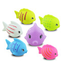 High Quality 2pcs lot Lovely Fish Mixed Colorful Soft Rubber Float Squeeze Sound Squeaky Bathing Toys