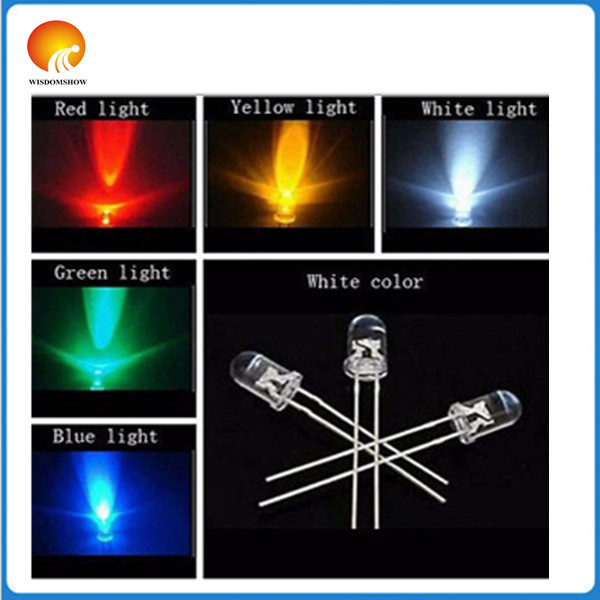 53mm white red yellow blue green Light-emitting diode Super Bright Light Bulb Led Lamp New Round - gavin xiang's store