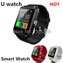 2015 nueva sincronización Bluetooth reloj de pulsera Wrist Wrap reloj U8 compañero teléfono manos libres para Android envío gratis