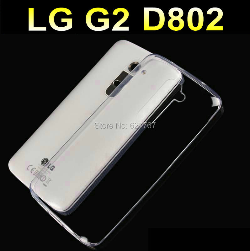 Hot for LG G2 D802 Transparent Ruanjiao Crystal Clear TPU Gel Protective Cover Phone Cases Silicone Protective Case Wholesale(China (Mainland))
