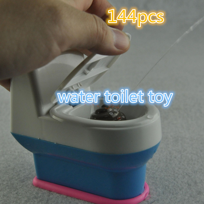wholesale 144pcs Mini Prank Squirt Spray Water Toilet Closestool Joke Gag Toy Surprise Gift Tricky Toilet Toy Funny toilets(China (Mainland))