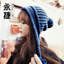 New Design To Protect Ears Leisure Caps Warm Earmuffs Winter Wool Knitted Skullies,Women Beanies With Ears Cute Bonnet ZJ-AHJ145(China (Mainland))