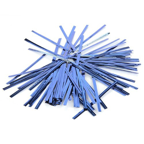 2015 Highly Commend 100 Pcs Blue Metallic Plastic Twist Ties for Lollipop Bakery(China (Mainland))