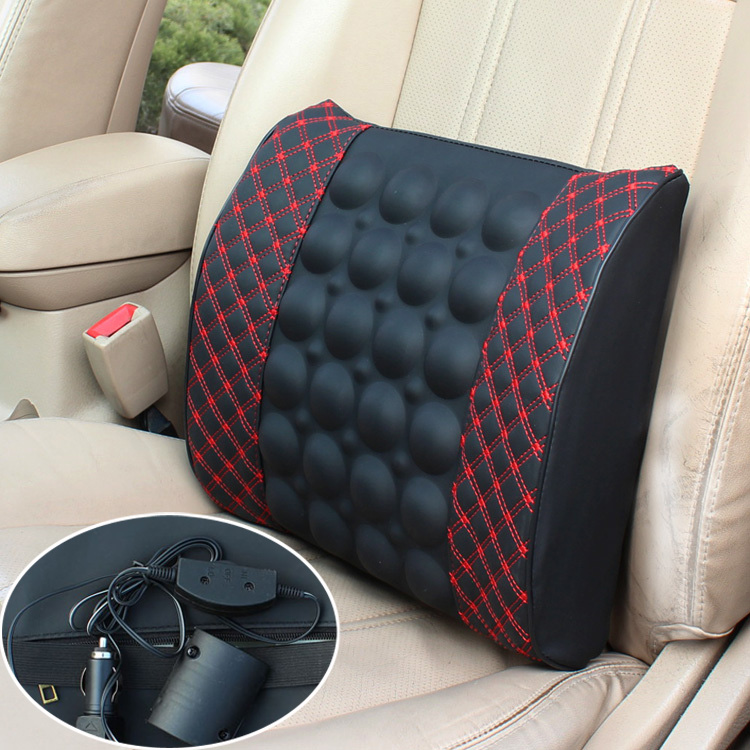 Car lumbar support electric Vibration massage tournure cushion car auto upholstery - LANS Trading Co.,Ltd store