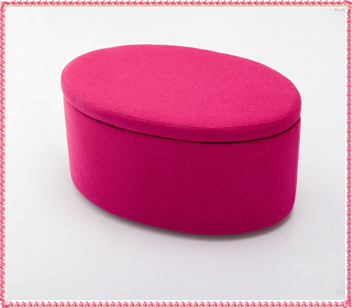 Rose red fabric step stool with storage area hot selling <br><br>Aliexpress