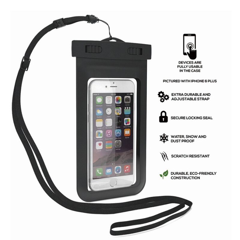 New Clear Waterproof Pouch Dry Case Cover For 5.5 inch