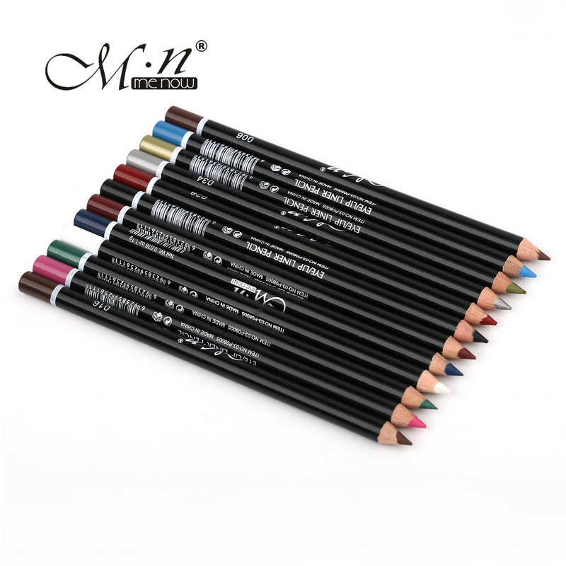MENOW 12 Colors Eye Make Eyeliner Pencil Waterproof Eyebrow Beauty Pen Liner Lip sticks Cosmetics Eyes Makeup - Fexport Co., Ltd. store