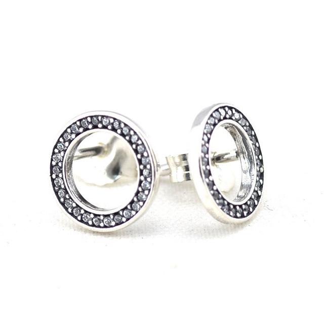 Навсегда серьги с камнями новый стерлингового серебра 925 серьги женские гипоаллергенные мода DIY ювелирных аксессуаров