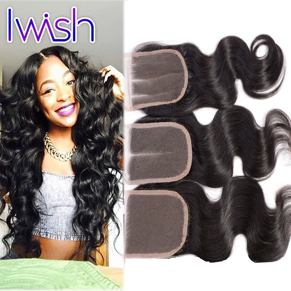 VIP Beauty Hair Body Wave Swiss Lace Closure Virgin Human Hair Weave 10 inch to 20 inch 4x4 inch Peruvian Brazilain Malaysian<br><br>Aliexpress