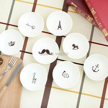 Free Shpping Small Plate Dish Tableware for Ceramic Flavored Dish Sauce Dish Mug-up Small Bowl Cake Dish(China (Mainland))
