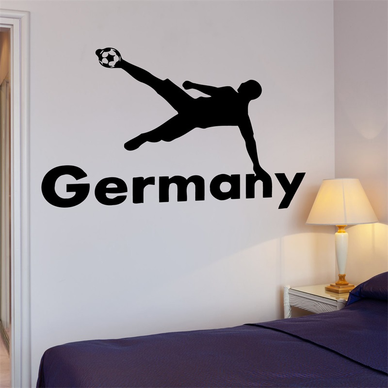 Decal Soccer Football Germany Ball The Best Sport In The World Cool(China (Mainland))