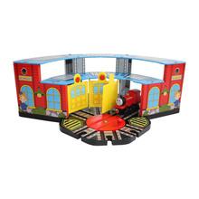 Diy деревянные томас и друзья железнодорожный Trian трек игрушки красочные стоянке кукольный дом для ребенка