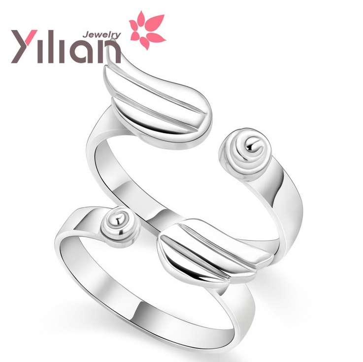 925 Sliver Ring 2013 New Fashion Christmas Gifts Square Special Offer Quality Goods Angle's WingCouples - Life in Color Co.,Ltd store