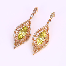 Buy Xuping Elegant Earring Top Sale Party Ethnic Style Jewelry Drop Earrings 8K Gold Color Plated Synthetic CZ Women Earrings 25296 for $12.40 in AliExpress store